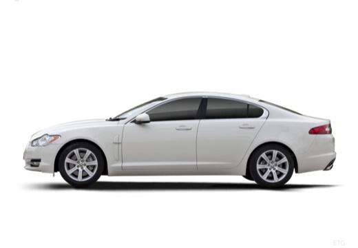 JAGUAR XF I sedan biały boczny lewy