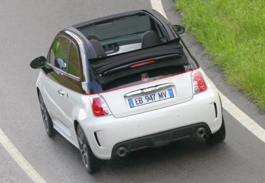 FIAT 500 C I kabriolet biały tylny lewy