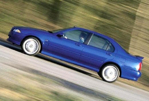 MG ZS sedan niebieski jasny boczny lewy