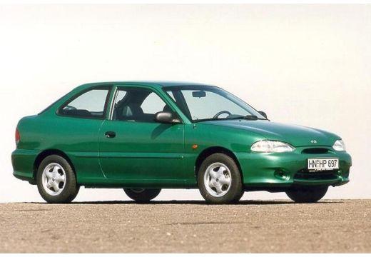 HYUNDAI Accent hatchback zielony przedni prawy