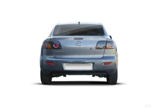 MAZDA 3 I sedan silver grey tylny