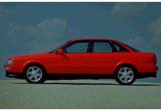 AUDI 80 B4 sedan czerwony jasny boczny lewy