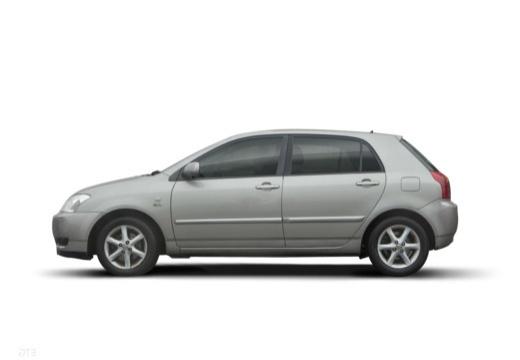 Toyota Corolla VI hatchback silver grey boczny lewy