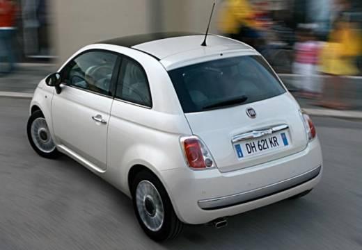 FIAT 500 I hatchback biały tylny lewy