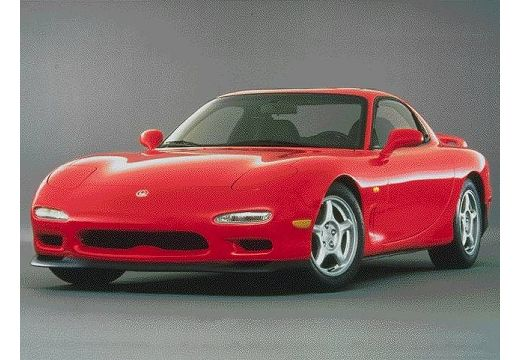 MAZDA RX-7 coupe czerwony jasny przedni lewy
