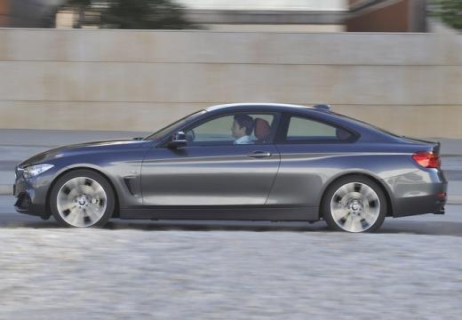 BMW Seria 4 F32 coupe silver grey boczny lewy