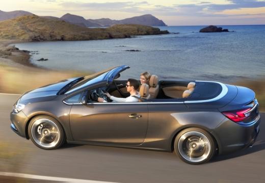OPEL Cascada kabriolet silver grey boczny prawy