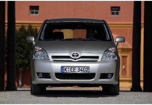Toyota Corolla Verso II kombi mpv silver grey przedni