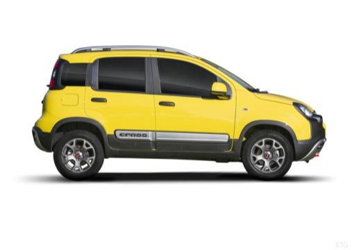 FIAT Panda III hatchback żółty boczny prawy