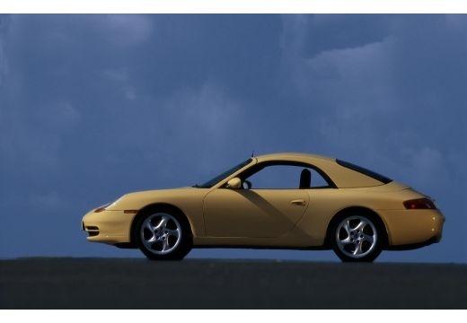 PORSCHE 911 Cabrio 996 kabriolet żółty boczny lewy