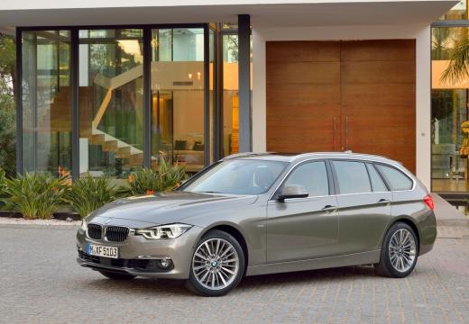 BMW Seria 3 Touring F31 I kombi brązowy boczny lewy