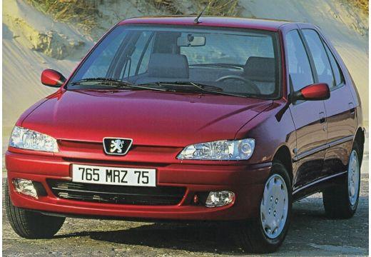 PEUGEOT 306 II hatchback bordeaux (czerwony ciemny) przedni lewy