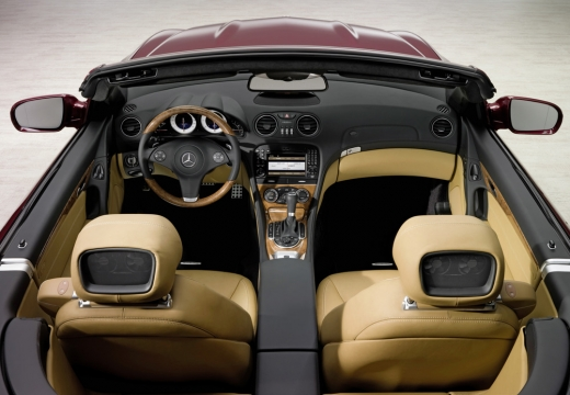 MERCEDES-BENZ Klasa SL roadster czerwony jasny wnętrze