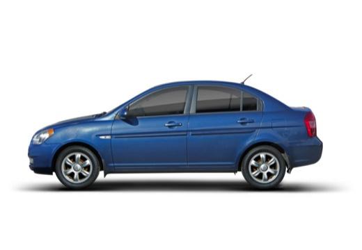 HYUNDAI Accent IV sedan niebieski jasny boczny lewy