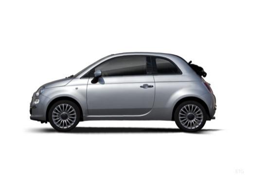 FIAT 500 C I kabriolet silver grey boczny lewy