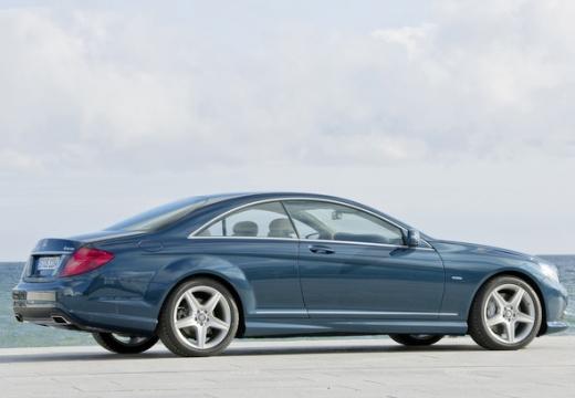 MERCEDES-BENZ Klasa CL coupe niebieski jasny tylny prawy