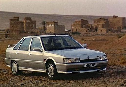 RENAULT R21 Berline sedan silver grey przedni prawy