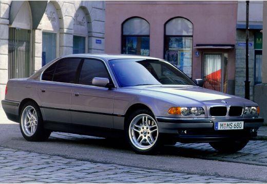 BMW Seria 7 E38 sedan silver grey przedni prawy