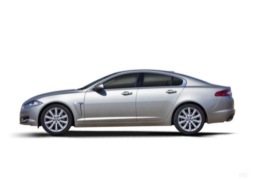 JAGUAR XF II sedan silver grey boczny lewy