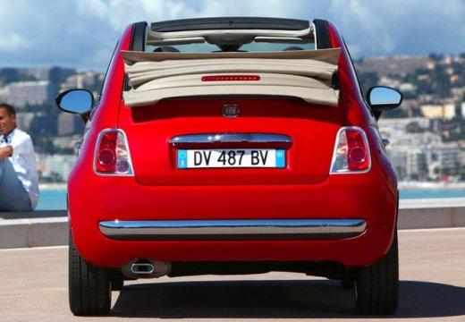 FIAT 500 C I kabriolet czerwony jasny tylny