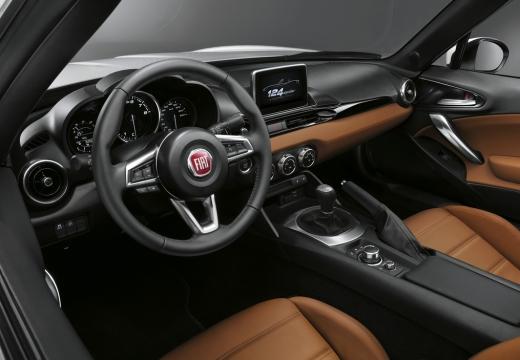 FIAT 124 Spider kabriolet wnętrze