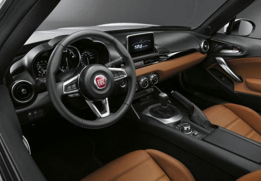 FIAT 124 kabriolet wnętrze