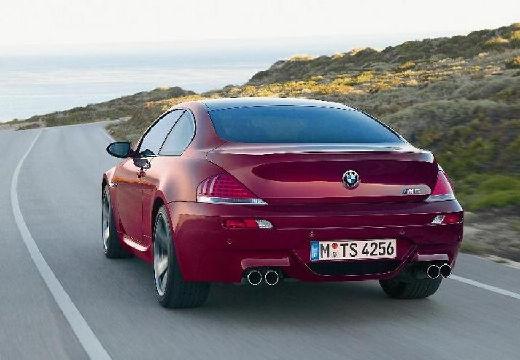 BMW Seria 6 E63 I coupe bordeaux (czerwony ciemny) tylny lewy