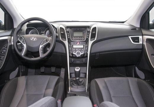 HYUNDAI i30 III hatchback niebieski jasny tablica rozdzielcza