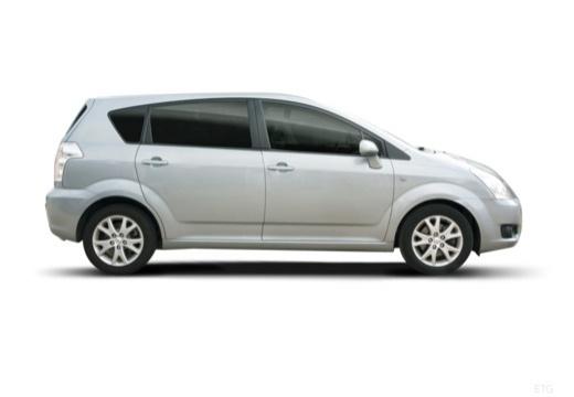 Toyota Corolla Verso III kombi mpv silver grey boczny prawy