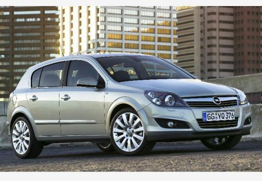 OPEL Astra hatchback silver grey przedni prawy
