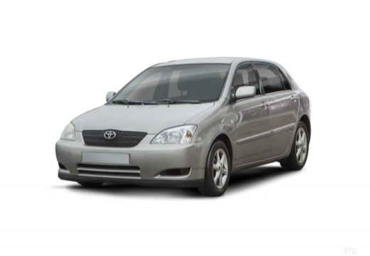 Toyota Corolla VI hatchback silver grey przedni lewy