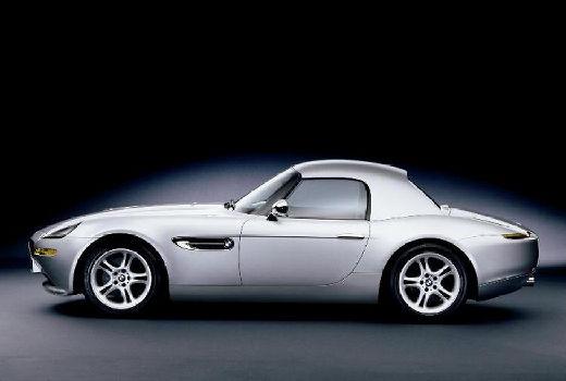 BMW Z8 roadster silver grey boczny lewy