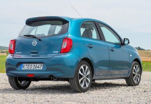NISSAN Micra IX hatchback niebieski jasny tylny prawy