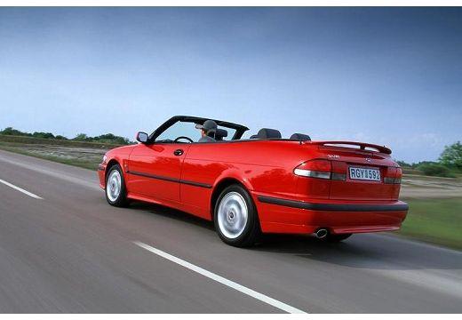 SAAB 9-3 Cabriolet I kabriolet czerwony jasny tylny lewy