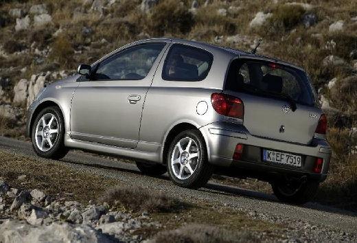 Toyota Yaris II hatchback silver grey tylny lewy