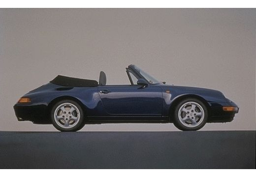PORSCHE 911 kabriolet niebieski jasny boczny prawy