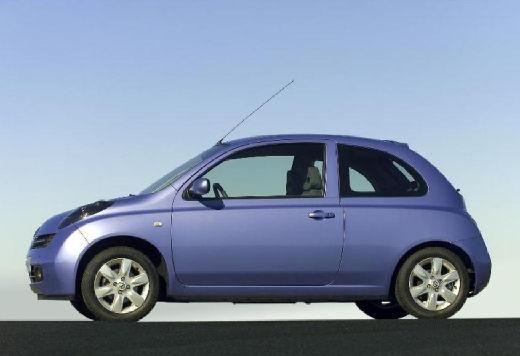 NISSAN Micra V hatchback niebieski jasny boczny lewy