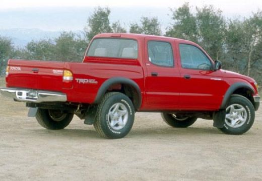 Toyota Tacoma pickup czerwony jasny tylny prawy