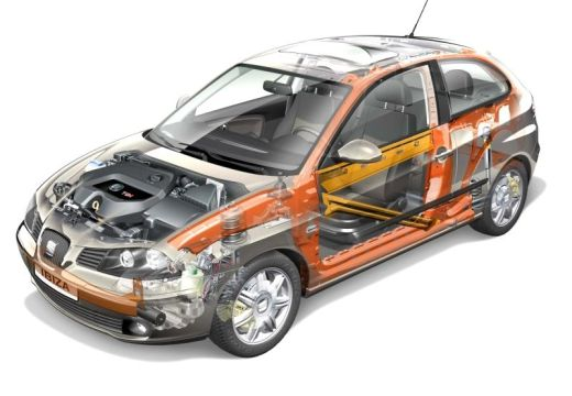 SEAT Ibiza IV hatchback prześwietlenie