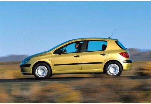 PEUGEOT 307 I hatchback złoty boczny lewy
