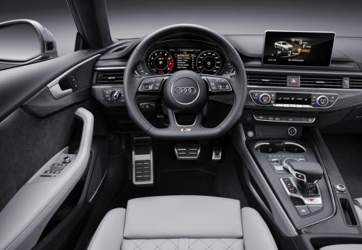 AUDI A5 Sportback III hatchback niebieski jasny tablica rozdzielcza