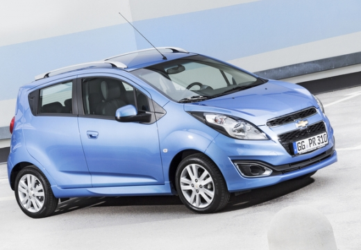 CHEVROLET Spark hatchback niebieski jasny przedni prawy