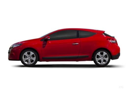 RENAULT Megane III Coupe I hatchback czerwony jasny boczny lewy