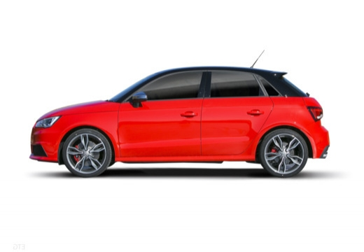 AUDI A1 Sportback I hatchback czerwony jasny boczny lewy