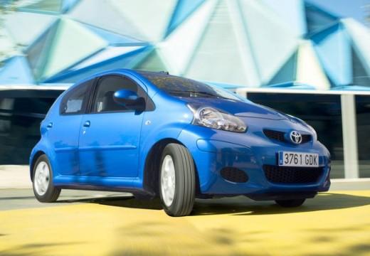 Toyota Aygo II hatchback niebieski jasny przedni prawy
