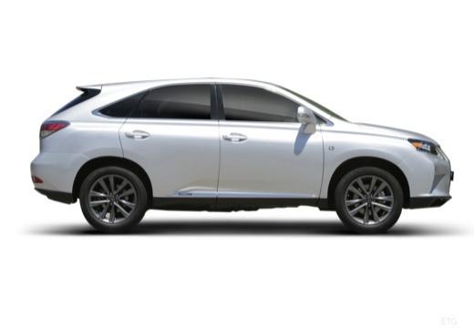 LEXUS RX III kombi biały boczny prawy