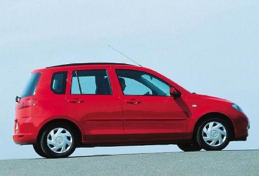 MAZDA 2 hatchback czerwony jasny tylny prawy