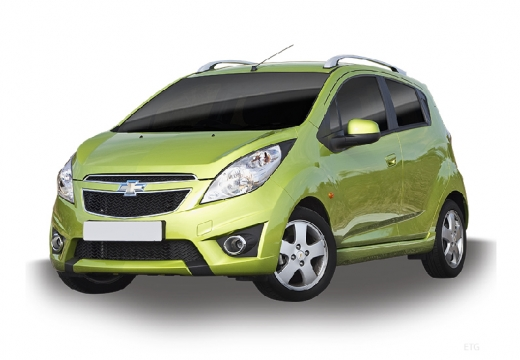 CHEVROLET Spark hatchback zielony jasny
