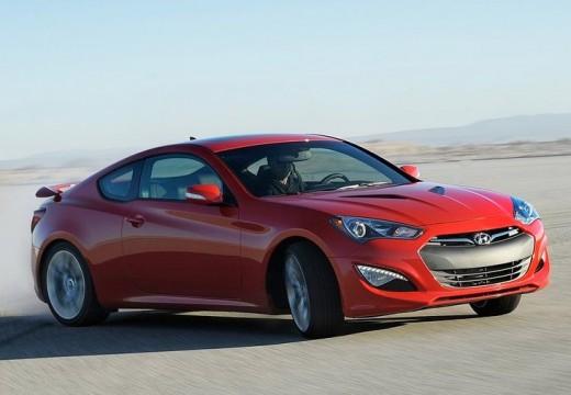 HYUNDAI Genesis II coupe czerwony jasny przedni prawy