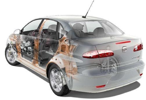 SEAT Cordoba III sedan silver grey prześwietlenie